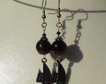 MOD! Earrings BCL.1231 agate beads