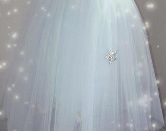 Wedding: Sky blue tulle skirt