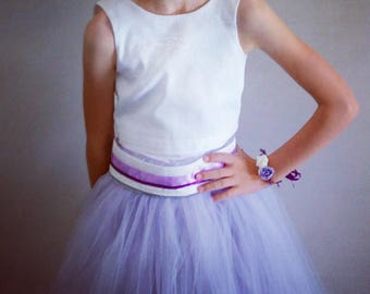 Wedding: purple bridesmaid tulle skirt bridesmaid