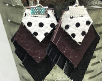 Mississippi State leather earrings