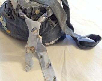 Beautiful bag in Blue Jean Nounours