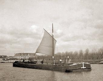 Barge veil London Park Jackson - photo print antique 20th Deb