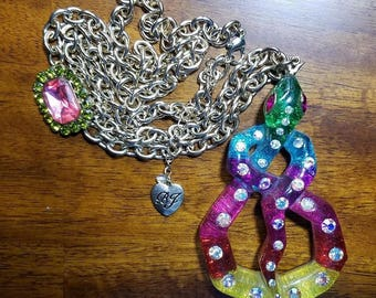 Betsey Johnson Rio Rainbow Retired Snake Necklace