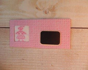 For children bedroom sign pink