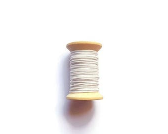 White waxed cotton threads