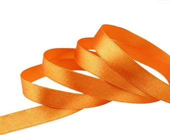 Orange satin ribbon 12mm