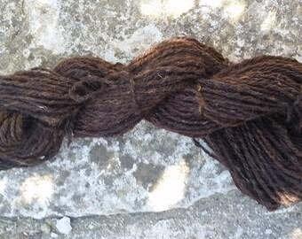 handspun yarn - Brown 80gsm from India