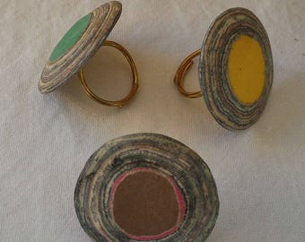 Recycled paper - green ring