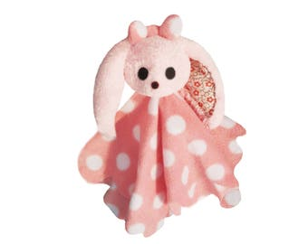 The toy pink very soft white polka
