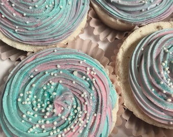 Pastel cupcake bath bombs, cupcake bath bombs, unicorn cupcake bath bombs, birthday cupcake bath bombs, gift ideas for girls, cute gift idea