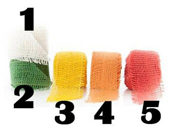 NO2 - burlap Ribbon - 5cm