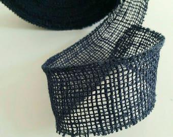 Burlap - 5cm - Blue Ribbon