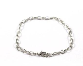 Set of 5 bracelets silver holders to customize