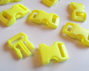 x 1 bow clip - yellow - 30 mm x 15 mm - plastic