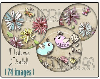 Digital collage sheets - Birds Printable Images Digital Collage Sheet for Jewelry Making