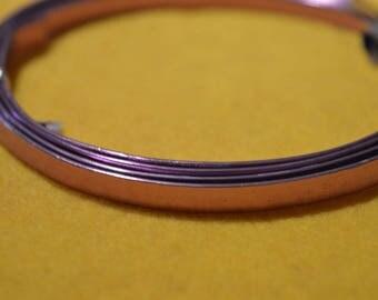 Purple aluminum flat wire