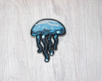 Jellyfish sequin patch