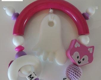 Personalized teething rattle * MYLA *.