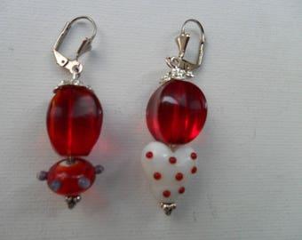 earrings (pierced) glass
