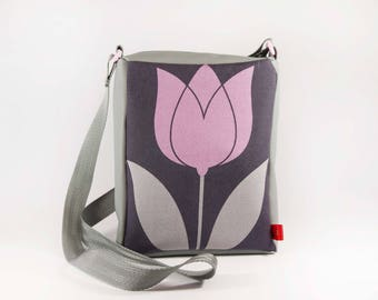 Pink and gray Tulip bag