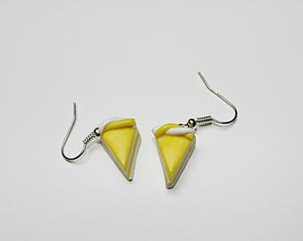 Earrings in polymer clay, Lemon tart