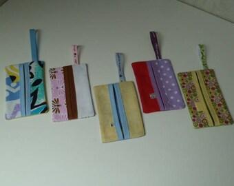 Set no. 1 five multicolored tissue pouches