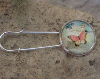 """Collection""""fluttering"""" 2 safety pin brooch"""