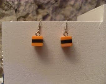 "Licorice ""collection gourmet"" earrings"