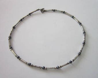Vintage  Silver Native American Choker Necklace