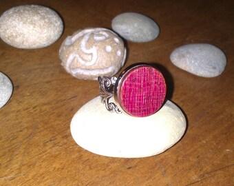Wood Amarante adjustable filigree ring