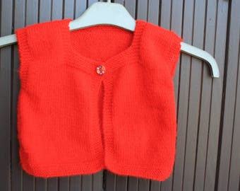 Sleeveless Cardigan for girl 1 year