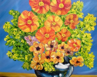 """Painting on canvas """"Flower bursts"""""""