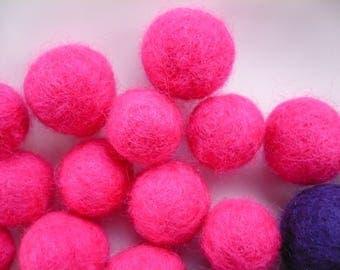 Pearl Pink felted wool, Merino, 20 mm