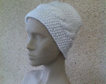 Warm and soft white neck or head band