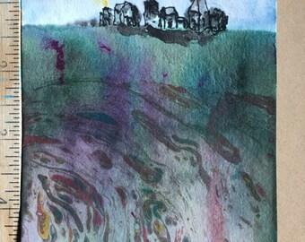 Castle Hill miniature painting OOAK