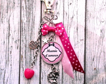 Granny love bag cabochon snap charm Keychain personalized mother of the big day