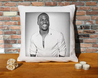 Kevin Hart Pillow Cushion - 16x16in - White
