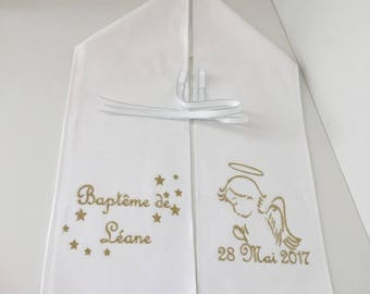 Personalized baptism with name scarf pattern your choice