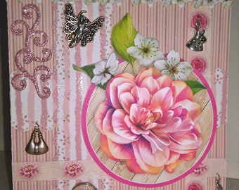 """""""Card any occasion entitled"""" emergence of the dahlia """""""