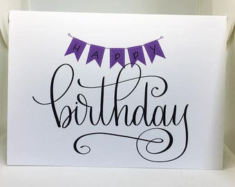 Happy Birthday, Birthday Card, Card for girlfriend, Card for boyfriend, Friend Birthday Card, Blank Card, Cute Birthday Card, Greeting Card