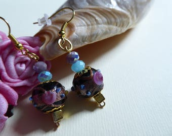Venetian beads earrings