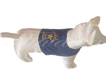 """""""Sheriff"""" T24 (S) jacket for small dog - Chihuahua"""