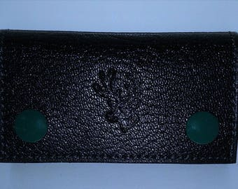Case key goat leather grained more interior pockets.