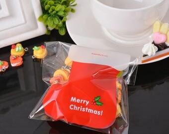 10 sachets bags pouches plastic self-adhesive stocking Christmas gift 12.9x9.9cm