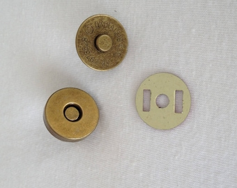 Magnetic button clasp for bag diameter 18mm clasp magnetic clip