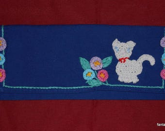 Dress handkerchief with blue name cotton towel to add