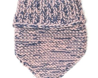 Mini hand knitted wool snood