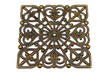 bronze color metal square prints.