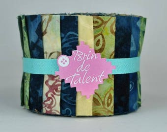 Bali Roll St Malo - bands for patchwork batik fabrics - Jelly Roll