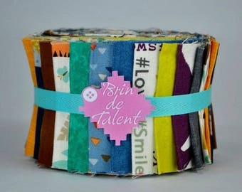 Roll Jungle Baby Quilt - patchwork - Jelly Roll fabric strips